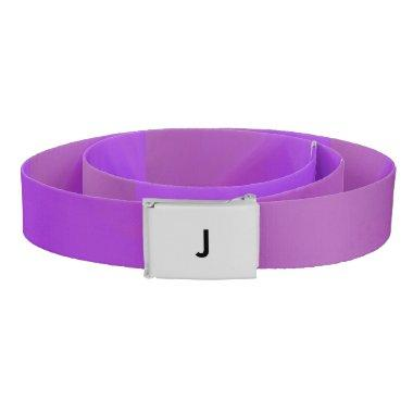 Purple Monogram Belt