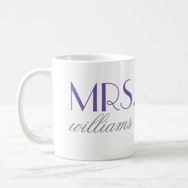 Purple Mrs. Coffee Mug | Bride-to-Be Gift