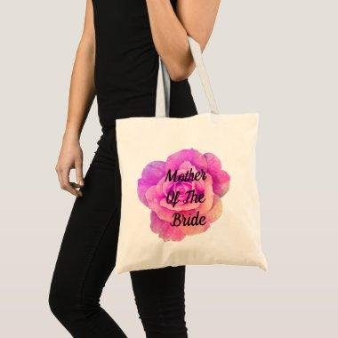 Purple Pink Floral Rose Mother Of The Bride Chic Tote Bag