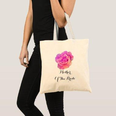 Purple Pink Floral Rose Mother Of The Bride Trendy Tote Bag