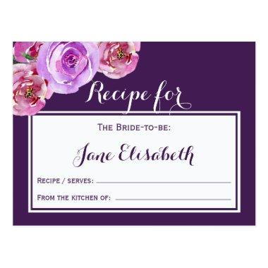 Purple plum violet floral bride to be recipe