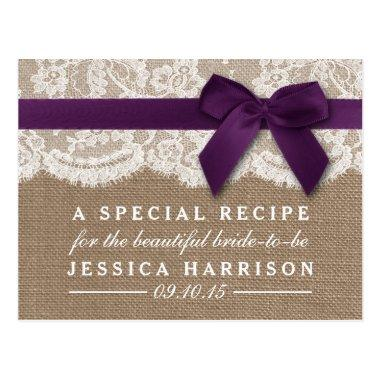 Purple Ribbon, Burlap & Lace  Recipe Post