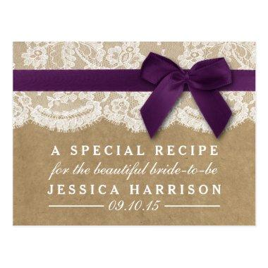 Purple Ribbon On Kraft & Lace  Recipe Post