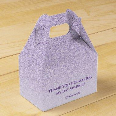 Purple Violet Faux Glitter and Sparkle Elegant Favor Box