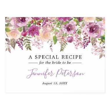 Purple Watercolor Flower  Recipe