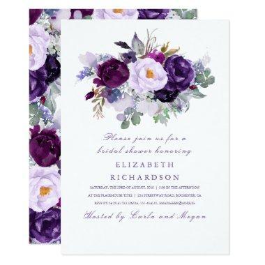 Purple Watercolor Flowers Romantic