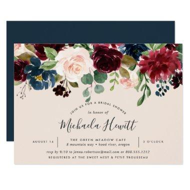 Radiant Bloom Bridal Shower Invitations