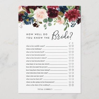 Radiant Bloom Double-Sided Bridal Shower Game