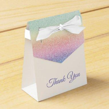 Rainbow Glitter Glitter & Sparkle Monogram Ombre Favor Box