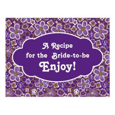 Recipe   | Purple Gold Floral