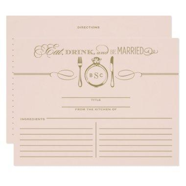 Recipe  | Eat, Drink & Be Married Theme