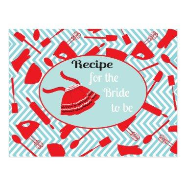 Recipe Invitations for the bride to be