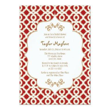 Red and Gold Moroccan  Invites