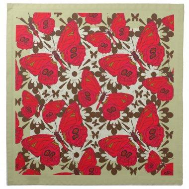 Red Butterflies Table napkin