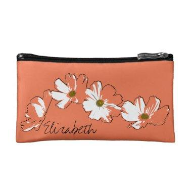 Red Daisy Chain Makeup Bag