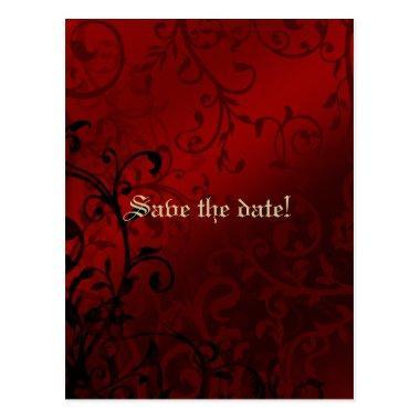 Red Damask Gothic  Invitation Post