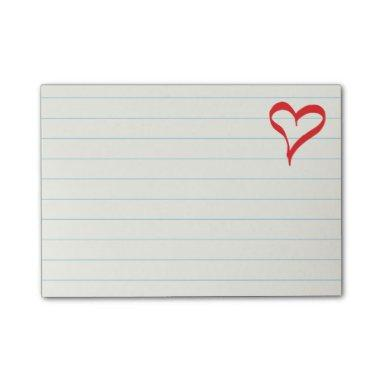 Red Heart Love Wedding, s, Engagement Post-it Notes