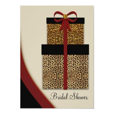 Red Leopard Gifts Leopard Bridal Shower Invitations