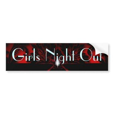 red Stiletto  bachelorette party Bumper Sticker