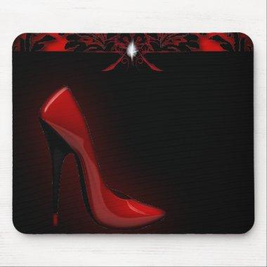 red Stiletto  bachelorette party Mouse Pad
