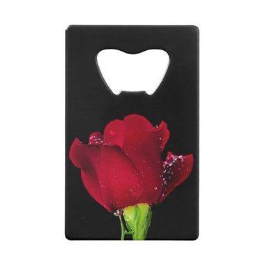 Red Wedding Rose Credit  Bottle Opener