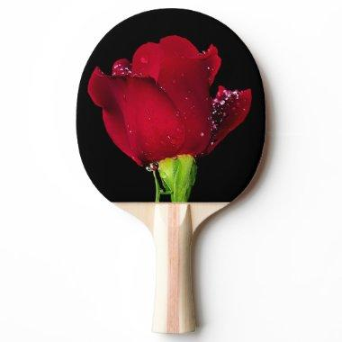 Red Wedding Rose Ping Pong Paddle