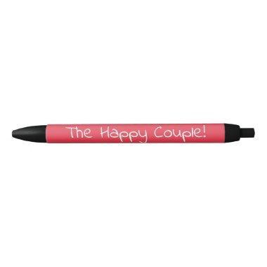Redheaded bride  black ink pen