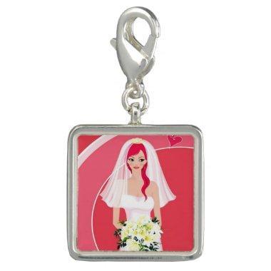 Redheaded bride  charm