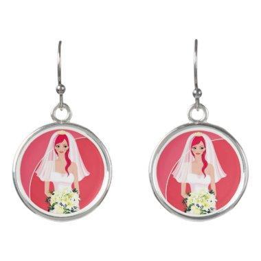 Redheaded bride  earrings