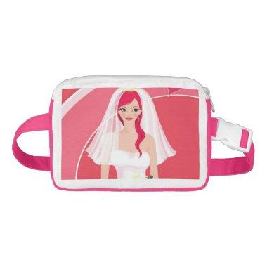Redheaded bride bridal shower fanny pack