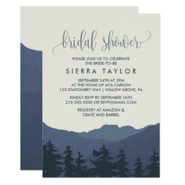 Retreat to the Mountains Bridal Shower Invitations