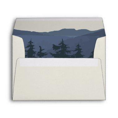Retreat to the Mountains Wedding Invitations Envelope