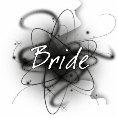 Retro Atomic Bride - Black & White Cutout