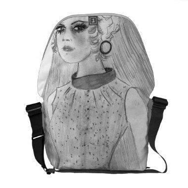 Retro Bride Messenger Bag