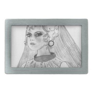 Retro Bride Rectangular Belt Buckle
