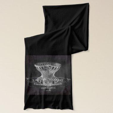 Retro chalkboard scripts victorian lingerie corset scarf