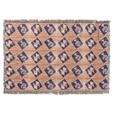 Retro Cool Red, White and Blue Throw