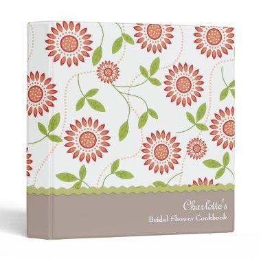 Retro Floral  Cookbook Recipe Binder