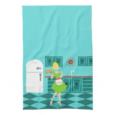 Retro Housewife Kitchen Towels