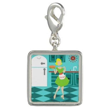 Retro Kitchen Charm Bracelet Charm