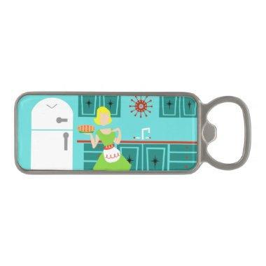 Retro Kitchen Magnetic Bottle Opener