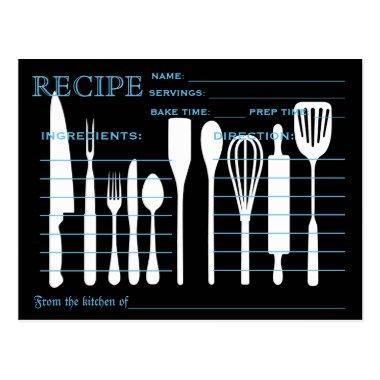 Retro Recipe  Kitchen Tools Striped
