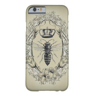 retro Victorian Bee Queen crown Fashion iPhone 6 c Barely There iPhone 6 Case