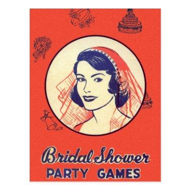 Retro Vintage Kitsch Bridal Shower Party Games PostInvitations