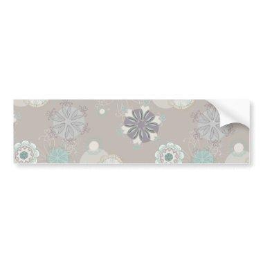 Retro Wedding Customizable Pattern Bumper Sticker