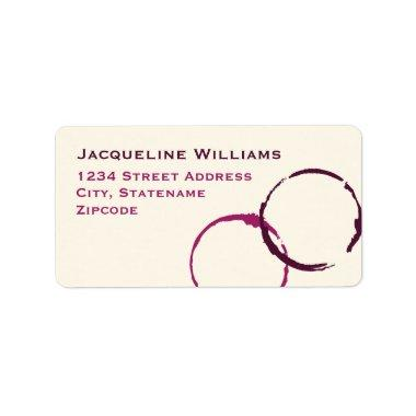 Return Address Labels | Wine Stain Rings
