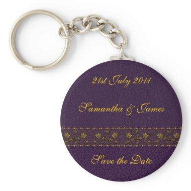 Rich Purple Wedding Keychain