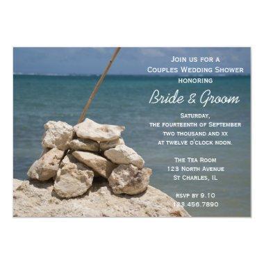 Rocks on Beach Couples Wedding Shower