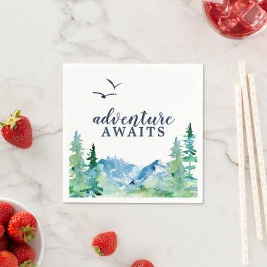 Rocky Mountain Adventure Awaits Baby Shower Napkins