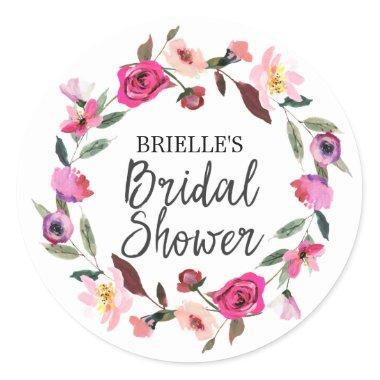 Romantic Fairytale Blossom Wreath  Classic Round Sticker